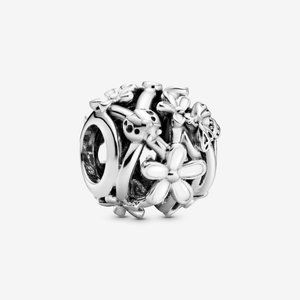 Pandora Openwork White Daisy Flower Charm